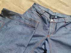 Wide Leg Steel Blue Denim Vintage Unused by SophieLadyDeParis