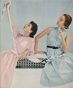 Barbara Mullen and Sherry Nelms June Vogue 1953