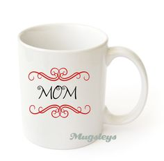 Monogram Coffee Mug personalized initial Alphabet white ceramic cup