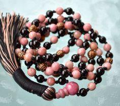 Rhodonite-Onyx-Mala-6mm-108-Buddhist-Beads-Meditation-Mala-Mantra-Beads