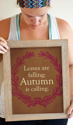 Fall Art Print Wreath Decor Autumn Decor Art by SmartyPantsStudio, $21.00