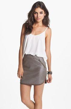 BP. Metallic Scalloped Skirt (Juniors)   Nordstrom