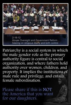 """Good example of patriarchy (use of """"gender roles"""" aside...)"""
