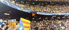 [VÍDEOS] El Camp Nou branda milers d'estelades en suport de Carme Forcadell