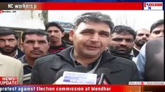 NC workers protest against Election commission at Mendhar