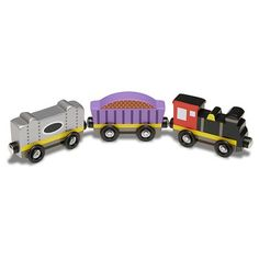 It has been said that collecting classic toy trains in the world's greatest hobby. Many of today's collectors received their first toy train set when they were young, often as a Christmas or birthday present. Collectors claim that the Rail Train, Train Car, Wooden Train, Melissa & Doug, Models, Imaginative Play, Classic Toys, Model Trains, Toy Trains