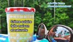 Crème solaire maison à base d'huile de coco - 12 cl d'huile d'amande douce ou d'huile d'olive - 6 cl d'huile de coco - 15 g de cire d'abeille - 2 cuillères à soupe d'oxyde de zinc Attention : utilisez une poudre sans nano-particules car elle ne peut pas être absorbée par la peau. Prenez garde de ne pas absorber la poudre en respirant. - facultatif : 1 cuillère à café d'huile de pépins de framboise - facultatif : 1 cuillère à café d'huile de graines de carotte - facultatif : 1 cuillère à café…