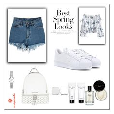 """Snapmade 5/10"" by arijanagetos55 ❤ liked on Polyvore featuring adidas, H&M, Bobbi Brown Cosmetics and MICHAEL Michael Kors"