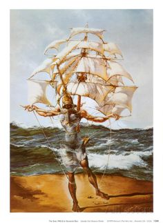 Salvador Dali The Ship painting for sale - Salvador Dali The Ship is handmade art reproduction; You can buy Salvador Dali The Ship painting on canvas or frame. Salvador Dali Gemälde, Salvador Dali Paintings, Ship Paintings, Watercolor Paintings, Ship Art, Surreal Art, Oeuvre D'art, Les Oeuvres, Art History