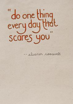 do one thing every day that scares you +++Visit http://www.hot-lyts.com/ for more #quotes on #life #positive