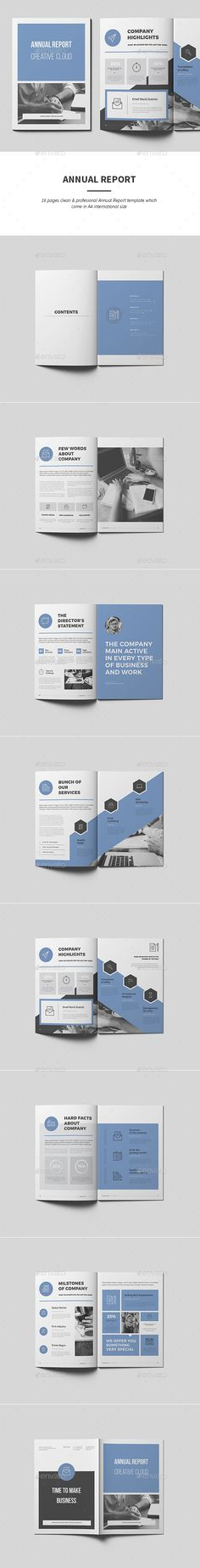 Annual Report — InDesign INDD #white #easy • Download ➝ https://graphicriver.net/item/annual-report/19413838?ref=pxcr