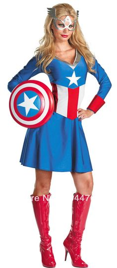 Cheap costum jewlery, Buy Quality costume prop directly from China costume costume Suppliers: Woman captain america costume spandex close-fit woman captain america costume superhero zentai costume wholesale. we