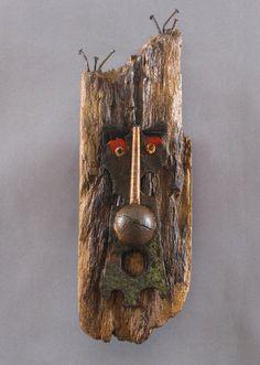 Art Mask Sculpture Wooden Sculpture Gip