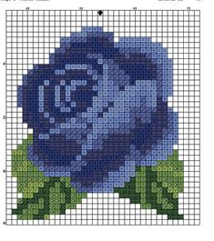 "Photo from album ""Бутоньерки мини"" on Yandex. Mini Cross Stitch, Cross Stitch Rose, Cross Stitch Flowers, Cross Stitching, Cross Stitch Embroidery, Embroidery Patterns, Cross Stitch Designs, Cross Stitch Patterns, Graph Paper Art"