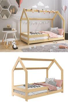 Wie kann man #Kinderzimmer einrichten? Mit schönen Möbeln aus Kiefernholz! Wie gefällt Euch diese Idee?  Bei uns kann man schönes Bett in Hausform finden   #Bett #Babybett #Kinderbett #Hausbett Betta, Toddler Bed, Diy, Furniture, Home Decor, Nursery Set Up, Bed Ideas, Mattress, Child Bed