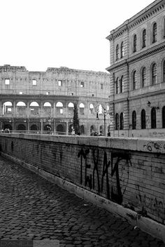 View of the Colosseum, Rome.