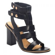 Vintage Solid Color and Chunky Heel Design Women's Sandals #>=#>=#>=#>=#> Click on the pin to check out discount price, color, size, shipping, etc. Save and like it!