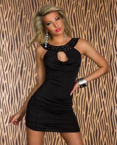 134c90aca89 Robe de soiree Femme courte moulante noir par UnCadeauUnSourire.com Robe De Soiree  Moulante