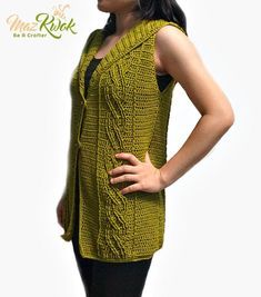 34df5c2952114 Ravelry  Eternal Cable Hooded Vest pattern by Maz Kwok