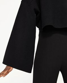 Image 6 of CROPPED SWEATSHIRT WITH WIDE SLEEVES from Zara