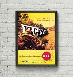 Affiche KLG 1951 Tourist Trophy - Garage Atelier Vintage - Limited Edition
