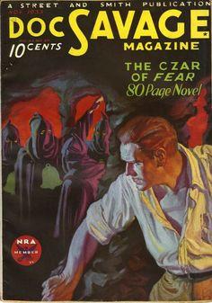 Doc Savage pulp magazine cover