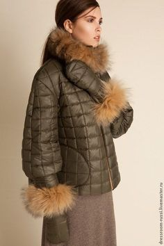 Купить или заказать Куртка с мехом лесы в интернет магазине на Ярмарке Мастеров. С доставкой по России и СНГ. Срок изготовления: 10-14 дней. Материалы: Плащёвая ткань, синтепон, мех. Размер: 42,44,46,48,50