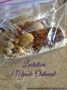 Sweet Stella's: Lactation Minute Oatmeal