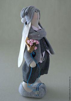 Игрушки животные, ручной работы. Заказать Заяц Reni - 39 см. Лада Садомская. Ярмарка Мастеров. Заяц текстильный