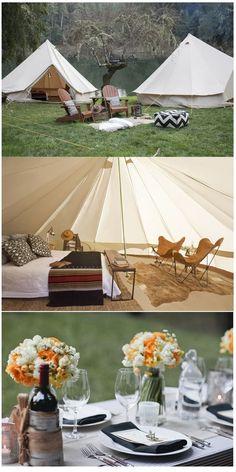 Glamping Glam + camping !