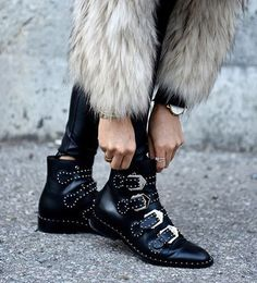 Givenchy studded ankle boots in black ✌🏼 Flat Leather Ankle Boots 9485b23a91