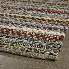 Pinstripe Grey Cotton Rag Rug Runner - Crate and Barrel Loom Weaving, Hand Weaving, Cool Tapestries, Fluffy Rug, Entryway Rug, Handmade Headbands, Handmade Journals, Kilim Rugs, Rag Rugs
