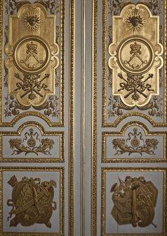 Door at Palace of Versailles (Chàteau de Versailles), #France - detail