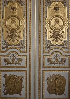 One Of The Opulent Doors At The Palace Of Versailles In France | Photo By Georgia Fowler