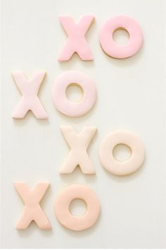 XO cookies for New Year's Eve