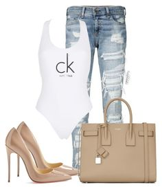 Untitled #1373 by styledbyjovonxo on Polyvore featuring polyvore fashion style Calvin Klein Christian Louboutin Yves Saint Laurent rag & bone clothing