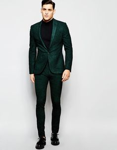 Image 1 of ASOS Super Skinny Suit In Herringbone