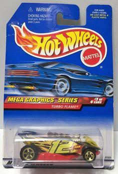 (TAS034424) - 1998 Mattel Hot Wheels Die-Cast - Mega Graphics Series Turbo Flame