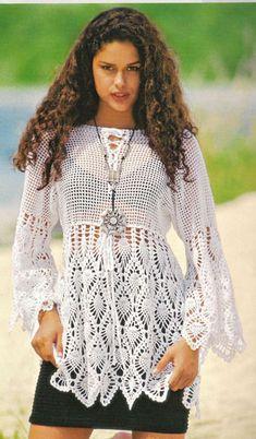 White tunic, crochet