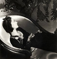 One of Horst's most famous photos - of Coco Chanel. As Valentine Lawford wrote in a book of his collected photographs, she was getting over a love affair (with Iribe) at the time.