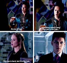 """I laughed so much when Magnus mimiced an old guy's voice xD And I watched it with my best friend and we almost died together. The rolling of his eyes was a precious moment xD xD #Shadowhunters 1x11 """"Blood Calls to Blood"""""""