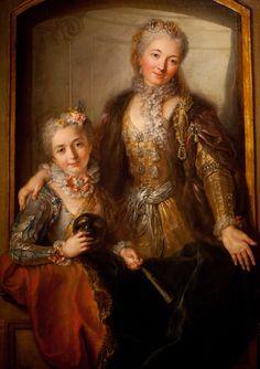 Portrait d'une femme et d'une fille, Charles Antoine Coypel