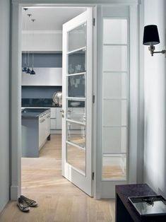 Flush Door Design, Door Gate Design, Flush Doors, Art Deco Chandelier, Home Board, Glass Door, French Doors, Tall Cabinet Storage, Modern Design