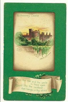 Ellen Clapsaddle Killkenney Castle St Patricks Day Irish  Postcard