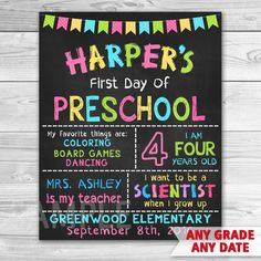 photo about First Day of Preschool Sign Free Printable known as 57 Most straightforward Initial Working day of Faculty Signs or symptoms photographs inside of 2016 Faculty