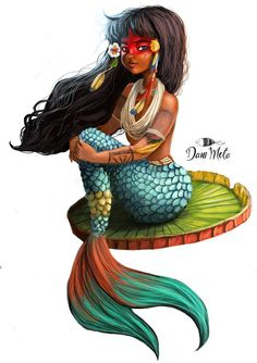 Oh my goodness!! Prettiest mermaid EVER! She's like a Polynesian Pocahotass.....
