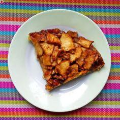 A slice of vegan and gluten-free apple pie