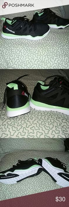 Brand new Reebok zrated sneakers Brand new never worn Reebok running shoes they are huarache style, I got them as a gift but they are a half a size too big for me they were never worn just tried on one time very comfortable perfect for running or working out. But they are cute enough to wear everyday with jeans or sweatpants  (anyone that purchases these gifts a free workout gift)??? Reebok Shoes Sneakers