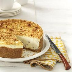 Butter Pecan Cheesecake Recipe from Taste of Home -- shared by Laura Sylvester of Mechanicsville, Virginia
