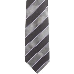 Pre-owned Gucci Striped Silk Tie ($60) ❤ liked on Polyvore featuring men's fashion, men's accessories, men's neckwear, ties, grey, mens ties, mens striped ties and mens silk ties